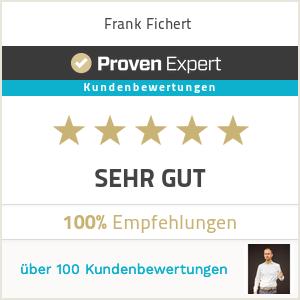 """Proven Expert Bewertungssiegel """"sehr gut"""""""